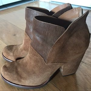 Kork-Ease brown suede and leather booties. 6.5